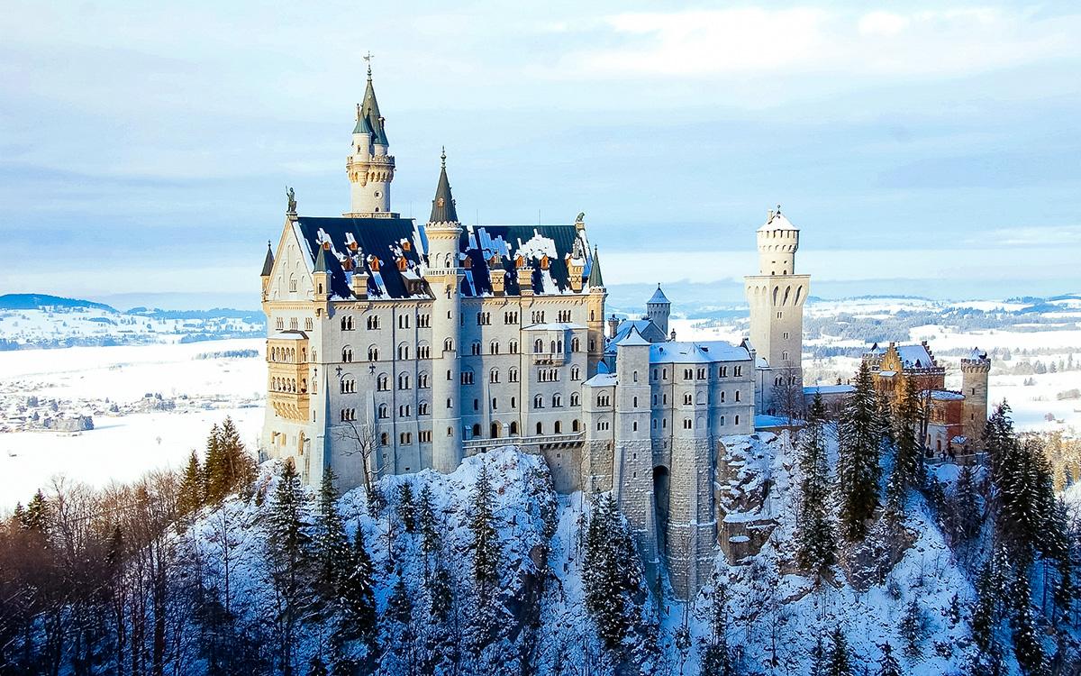 Castle Neuschwanstein near Munich in Winter
