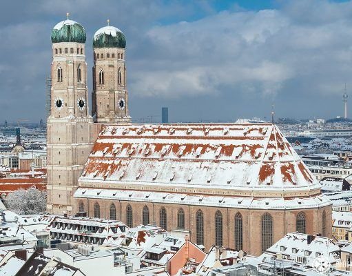 The Church of Our Lady (Fraunkirche) in Munich in Winter