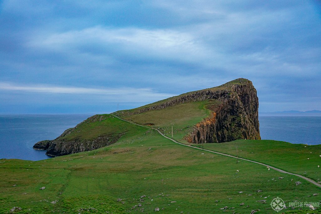 The concrete Path towards Neist Point Lighthouse