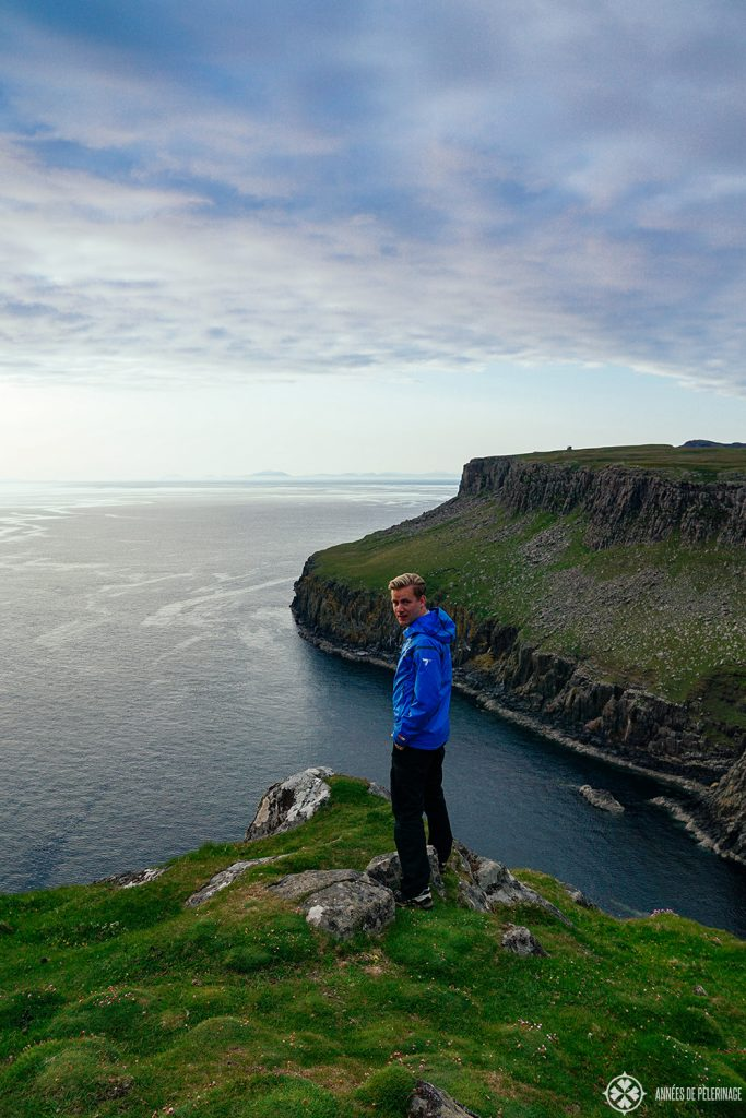 Me on the cliffs above neist point on the Isle of Skye in scotland