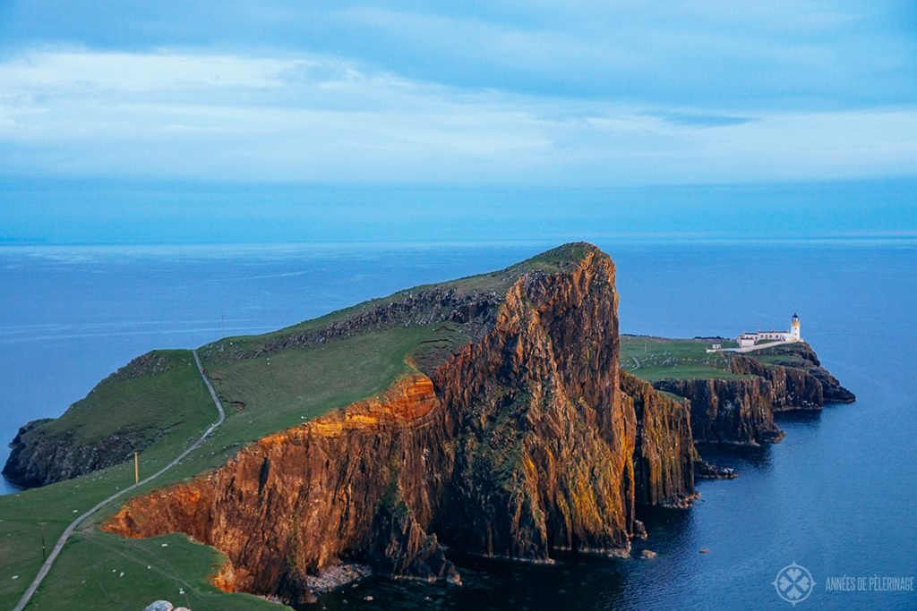 The Lighthouse at Neist Point on the Isle of Skye in Scotland