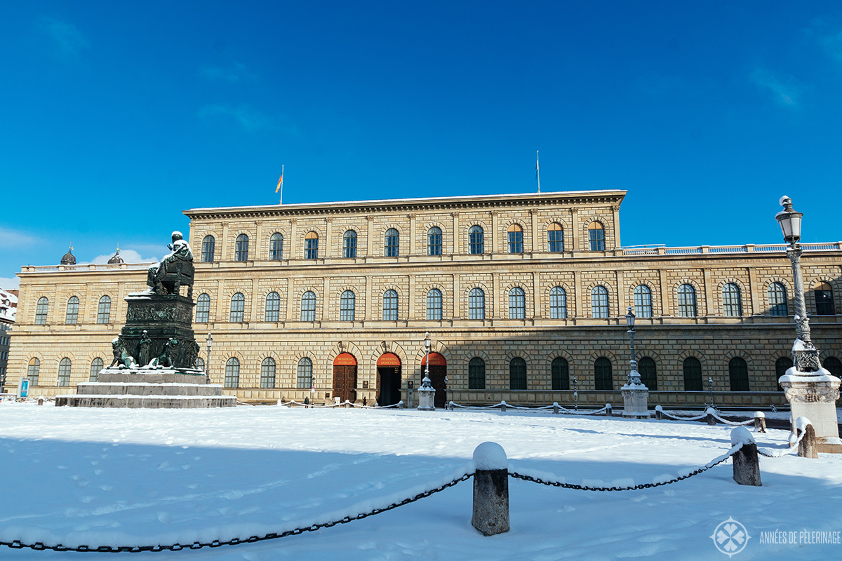 The Residenz Castle in Munich in winter