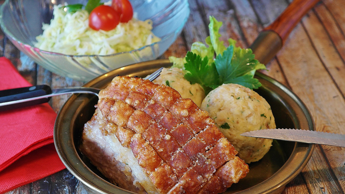 Traditional Bavarian Roast Pork