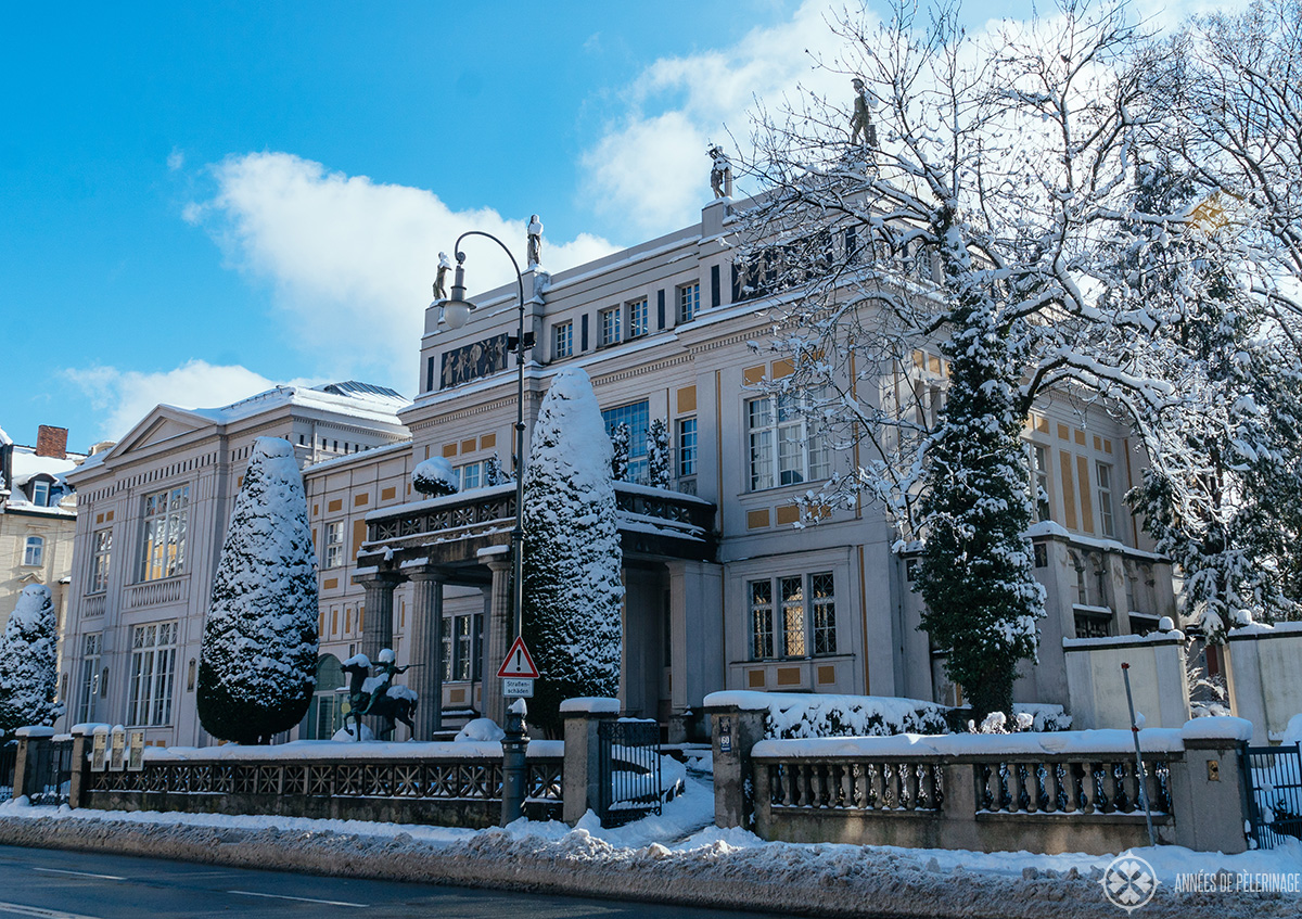 The Villa Stuck Jugendstil museum in Munich in Winter