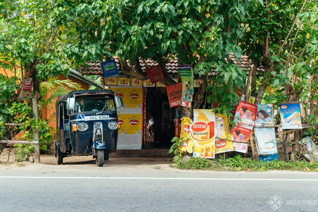 One of the many little road side shops in Sri Lanka