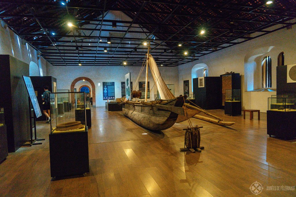 Inside the Maritime Archaeology Museum - one of the must-ses in Galle