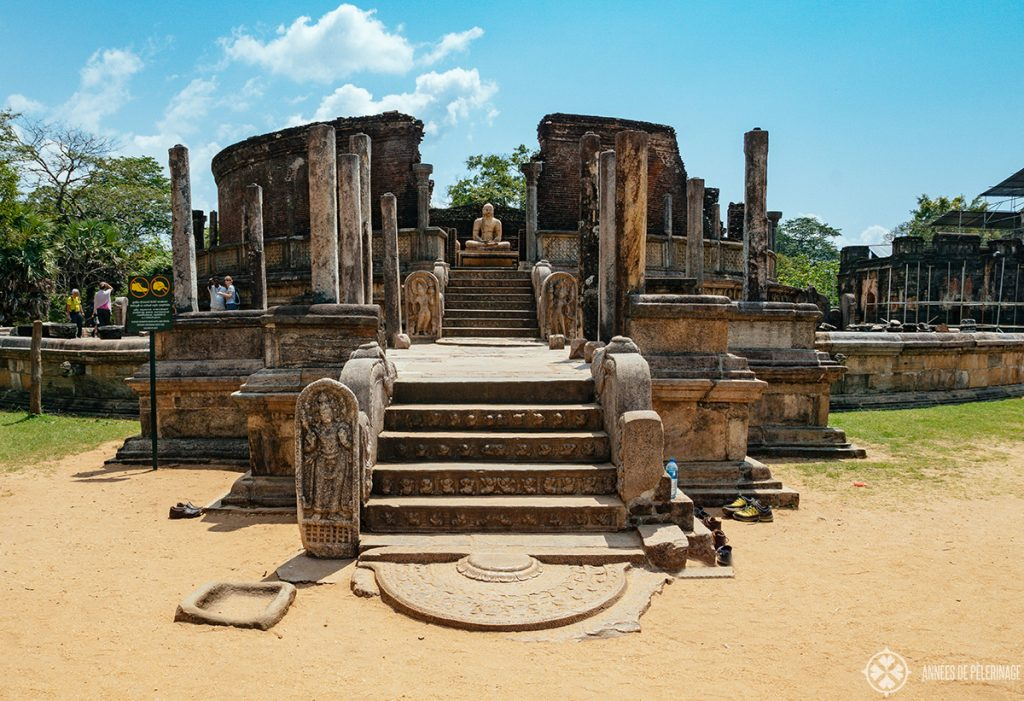 A buddhist temple at Polonnaruwa Sri Lanka