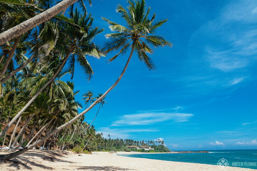 A typical beach near Tangalle Sri Lanka