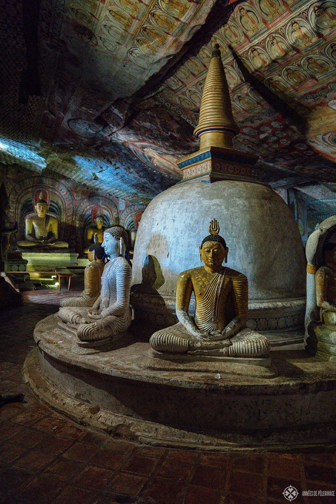 Inside the Dambulla Cave Temple a unique UNESCO World Heritage site in Sri Lanka