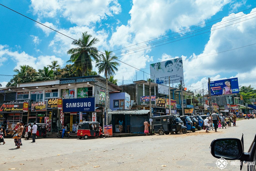 Beyond the pretty beaches - one of many small towns in Sri Lanka