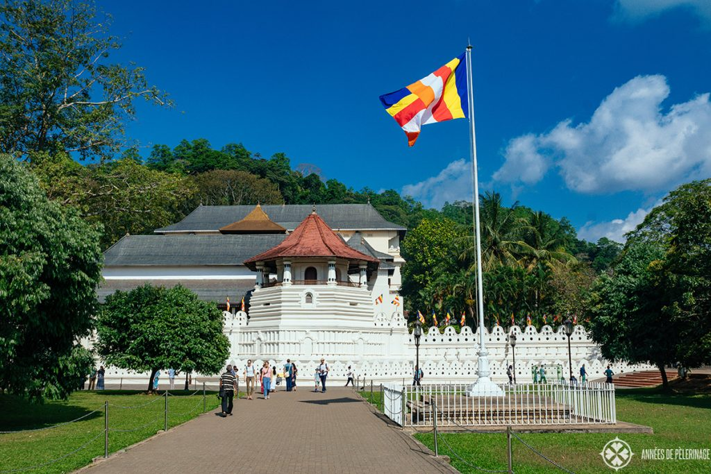 The Temple of the Tooth in Kandy in Sri Lanka - one of the tourist highlights that can't miss in any Sri Lanka itinerary
