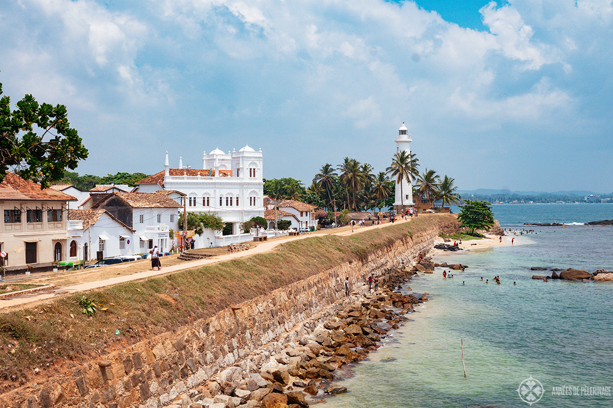 Galle Fort and its famous Lighthouse in Sri Lanka