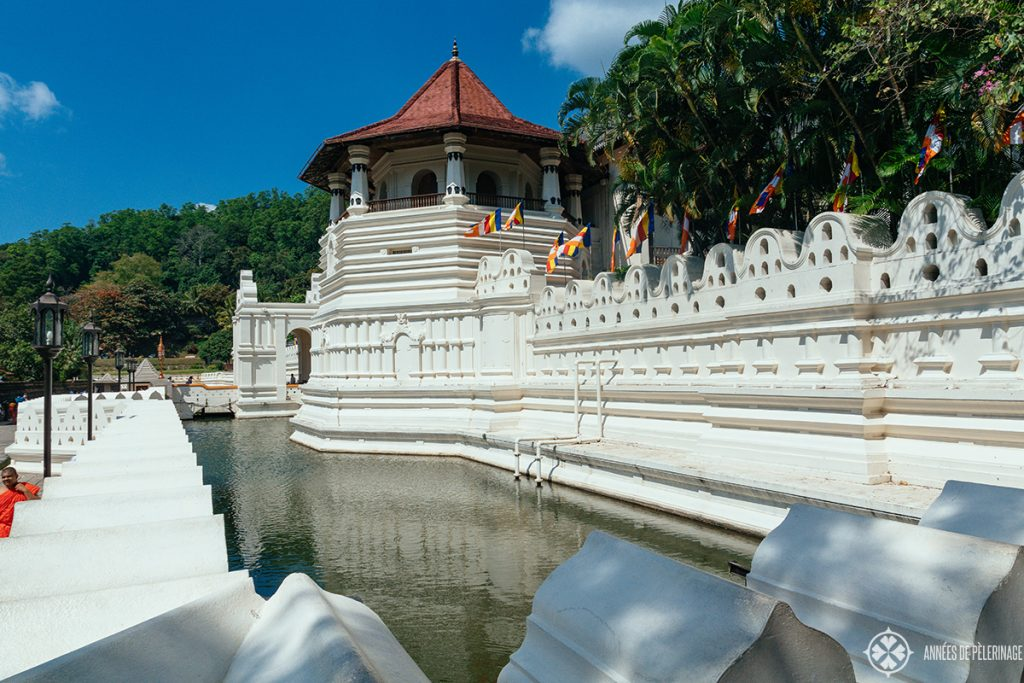 The renovated entrance of the Temple of the Tooth in Kandy where a terror attack happened in 1998