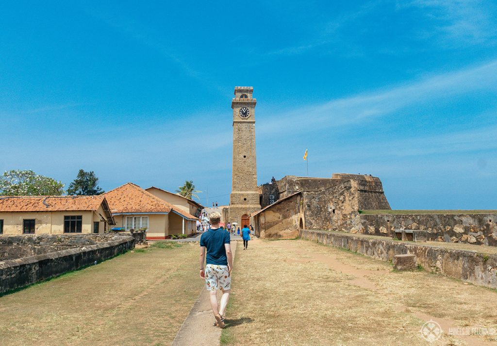 The old Clock tower near the entrance of Galle fort, in Sri Lanka