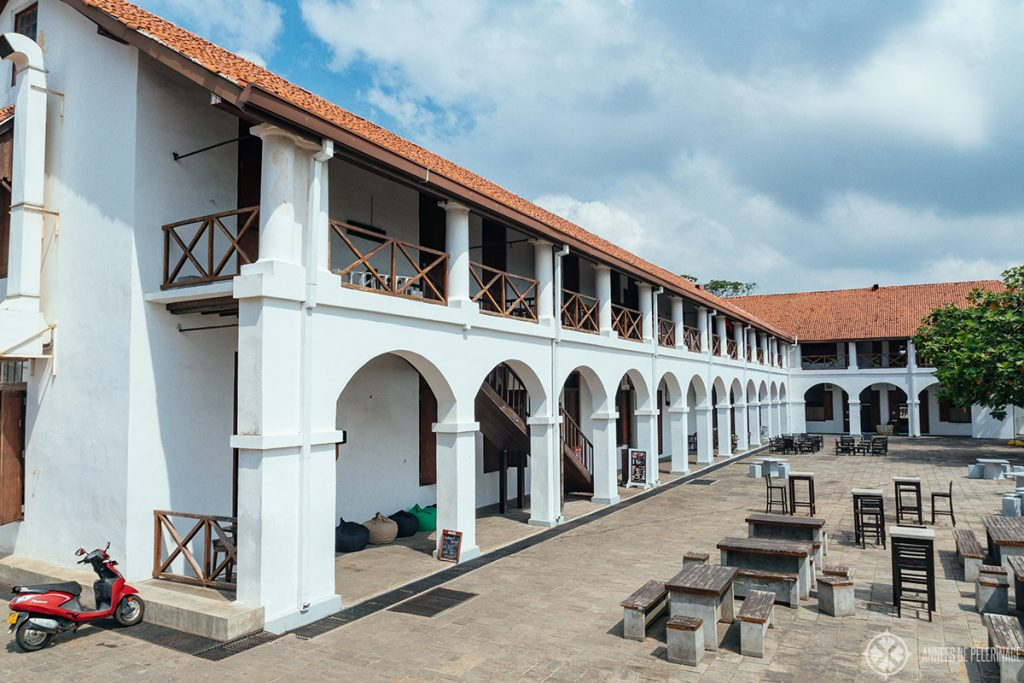 The old Dutch hospital - one of the most fascinating places to see in Galle's old town
