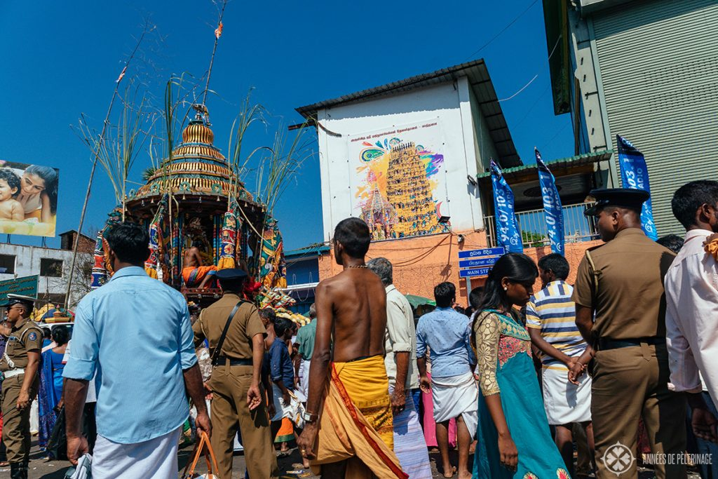Police at a Hindu Festival in Kandy