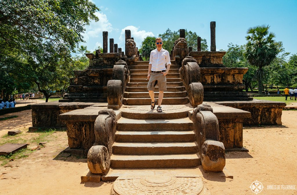 Exploring the UNESCO World Heritage ruins of Polonnaruwa near Dambulla, Sri Lanka
