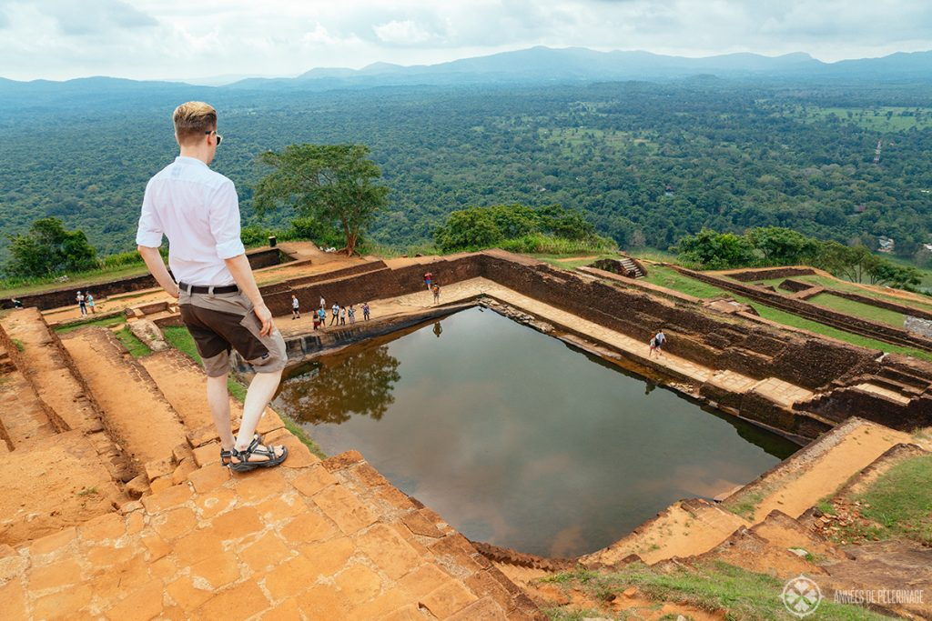 View from the top of the Sigiriya Lion's Rock in Sri Lanka