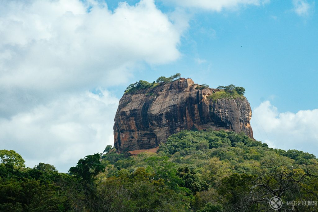 The UNESCO World Heritage site Sigiriya Lion's Rock near Dambulla, Sri lanka