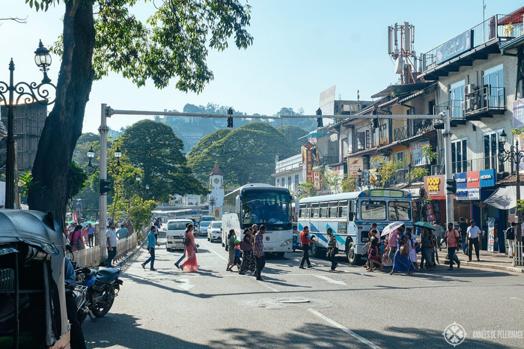 The traffic in Kandy - Is Sri Lanka safe? Depends, the trafic certainly isn't!