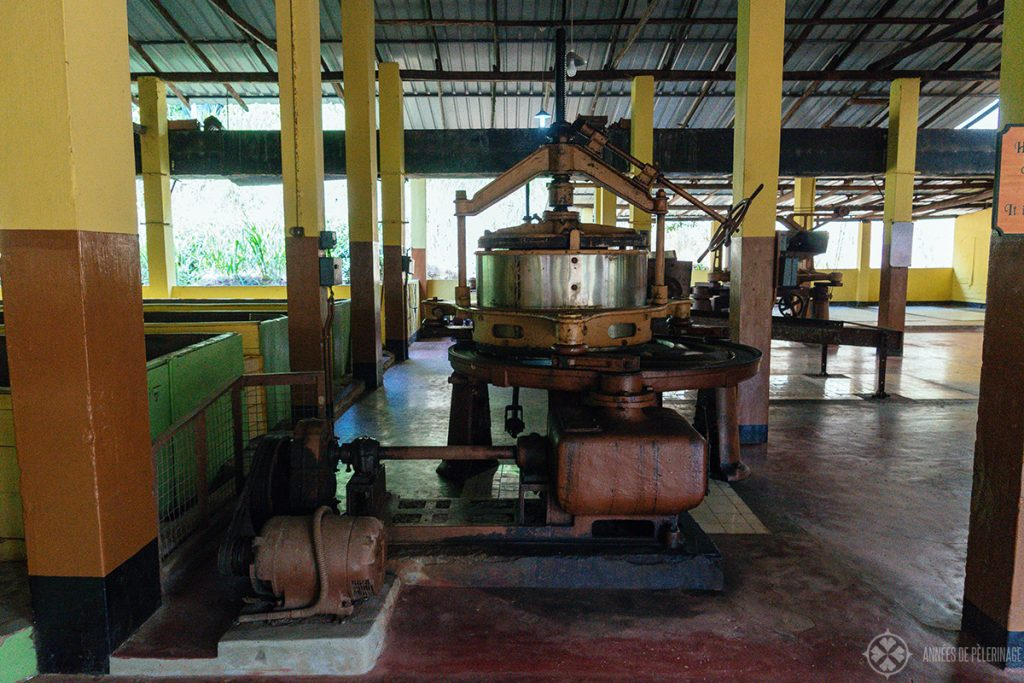 A tea factory near Galle, Sri Lanka