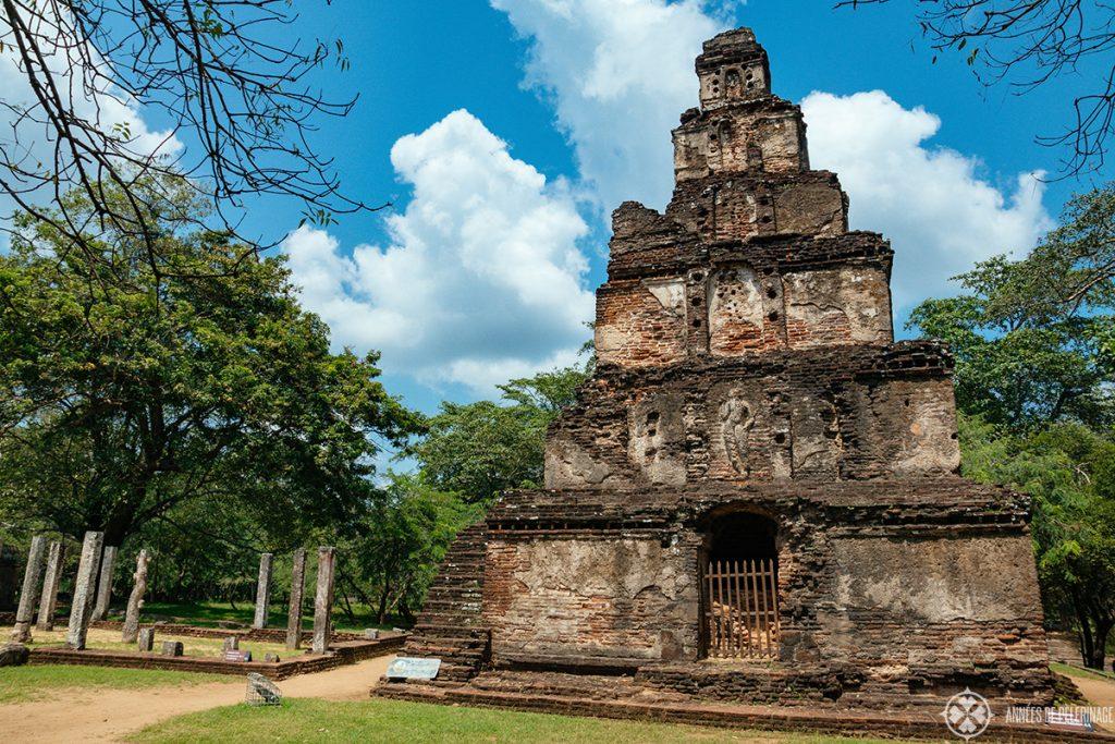 A ruined hindu temple in Anuradhapura Sri Lanka