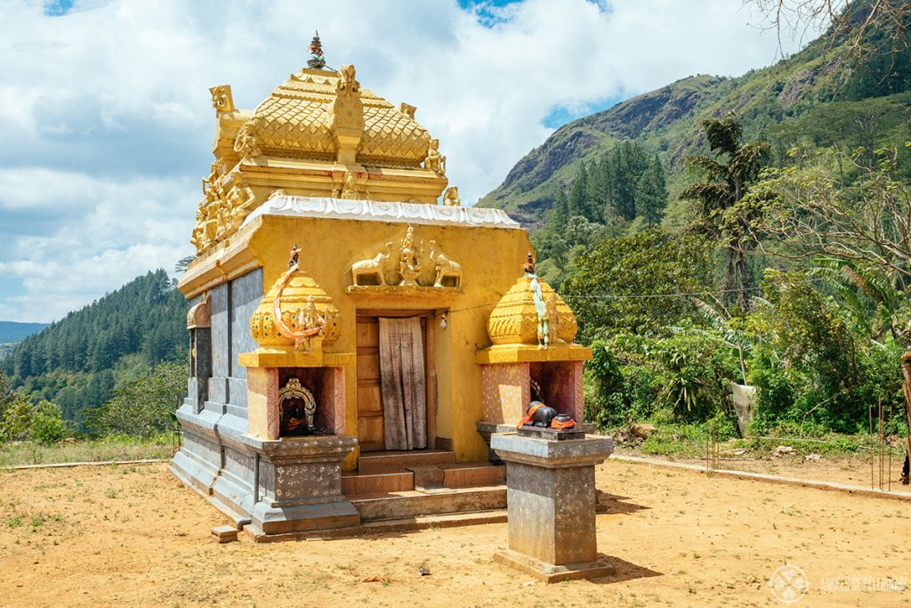 A small Hindu temple somewhere in the Knuckles Forest Reserve near Kandy, Sri Lanka