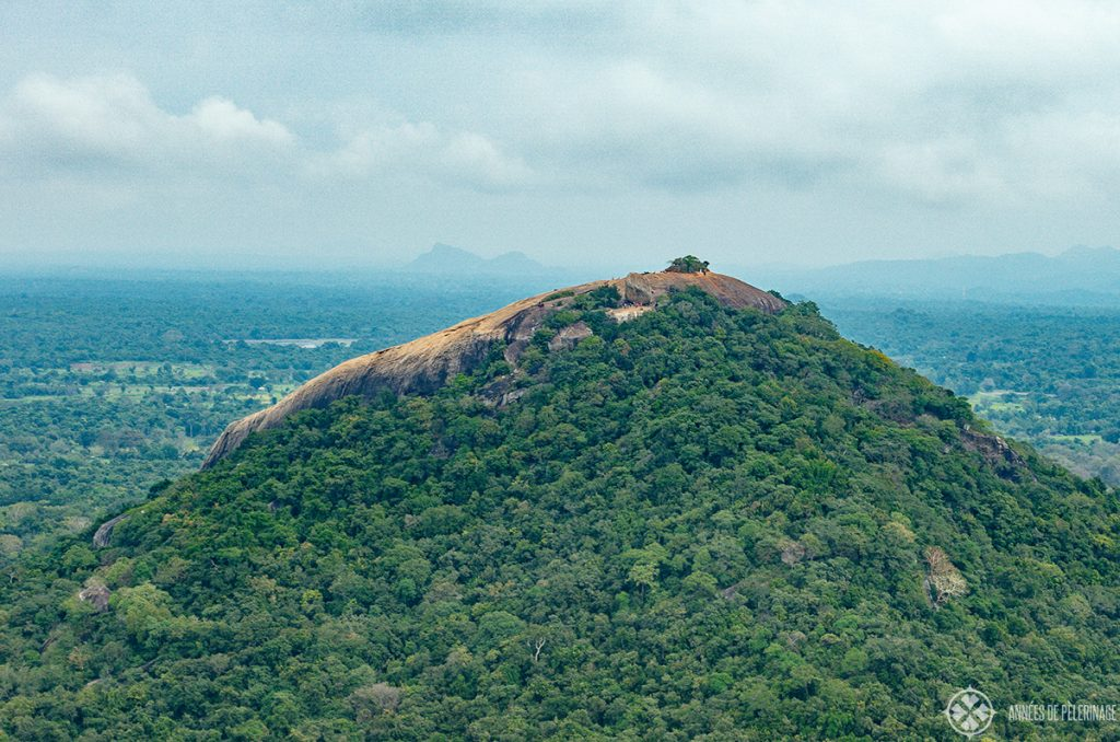 Pidurangala Rock as seen from Sigiriya Lion Rock, Sri Lanka