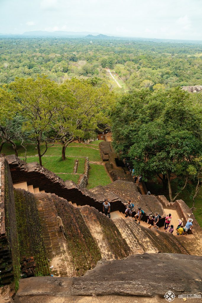 View of the stairs from above - Sigiriya is a somewhat diffcult hike - mainly due to the high heat and the humidity