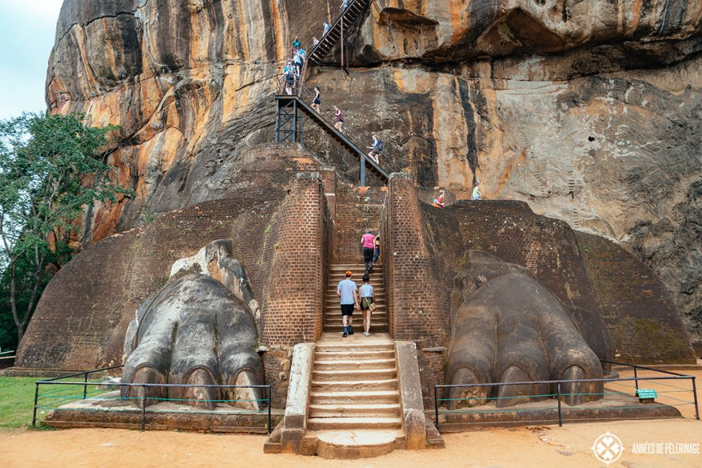 The majestic Lion Gate at Sigiriya - it gave the rock it's name, as Sigiriya means Lion Rock