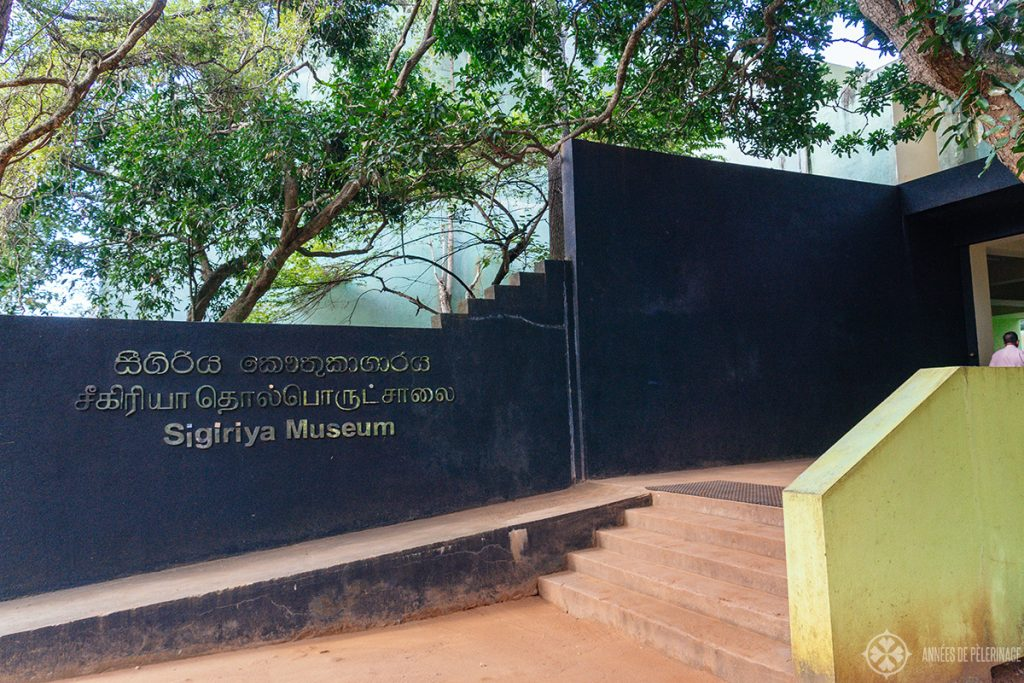Entrance of the Sigiriya Museum near Dambula Sri Lanka
