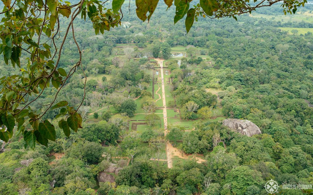 The Sigriya water gardens from above - one of the earliest landscape gardens of the world