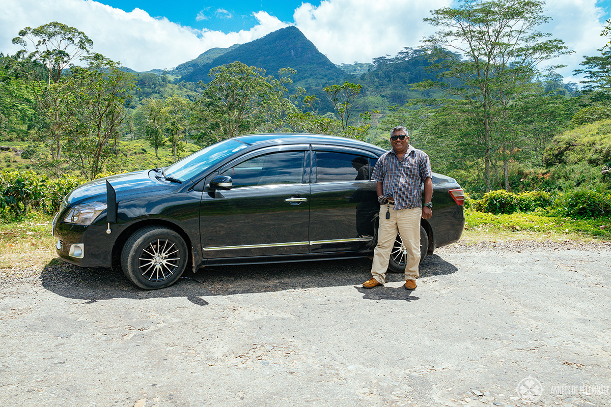 My driver guide in Sri Lanka - not always easy to find a good one