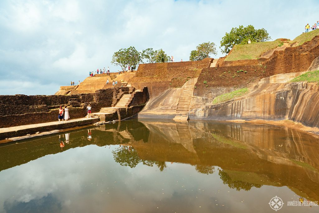 The cistern at the very top of Sigiriya Lion Rock Sri lanka