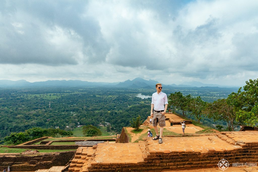 The spectacular view from the top of Sigirya Lion rock Sri Lanka