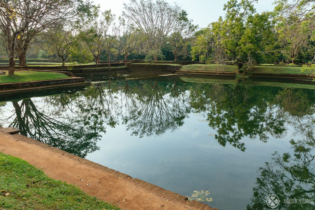 The picturesque water gardens as part of the sigirya lion rock