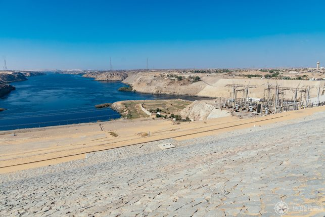 View of the Aswan High Dam from the top - just one of many things to see in Aswan, Egypt