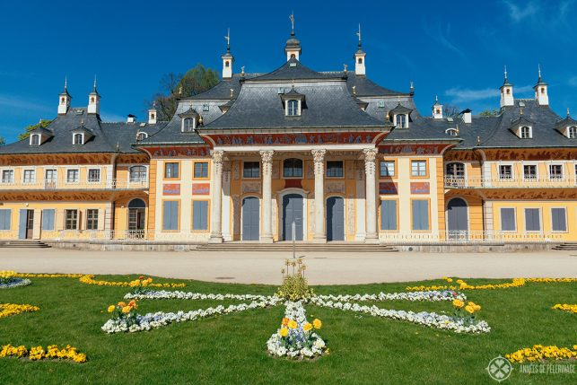 Close-up of the Bergpalais of Pillnitz castle, near Dresden, Germany