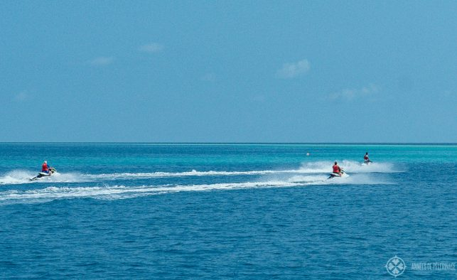 Jetski at the watersports center, Constance Halaveli