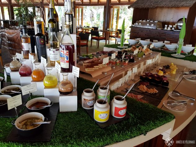 The lunch buffet in the Jahaz restaurant at the Constance Halaveli, Maldives