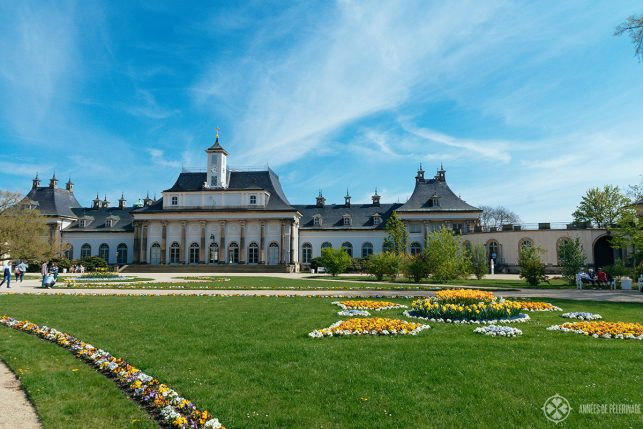The Neue Palais in the center of Pillnitz Castle - the newest addition to the baroque masterpiece