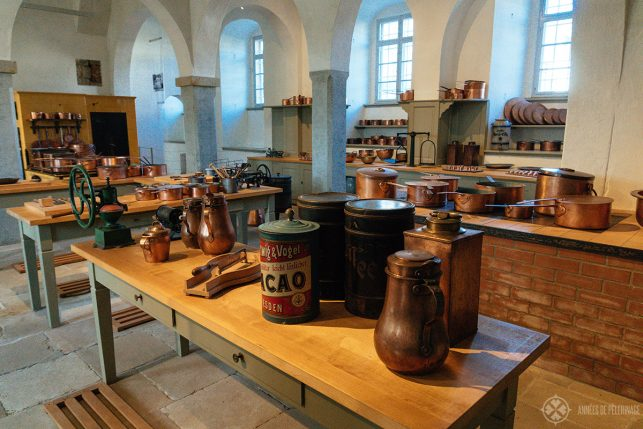 The old kitchen of Pillnitz Castle near Dresden, Germany