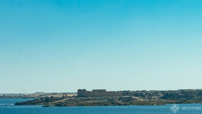 The temple of Kalabsha as seen from the Aswan High Dam - one of the hidden gems and free things to do in Aswan