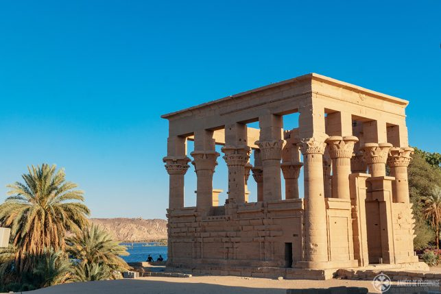 The famous Trajan's Kiosk on Philae - just one of many things to do in Aswan, Egypt