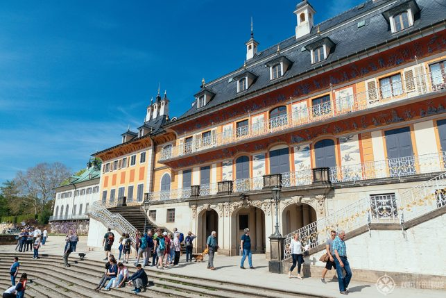 The Waterpalais of Pillnitz castle with beautiful chinoiserie murals