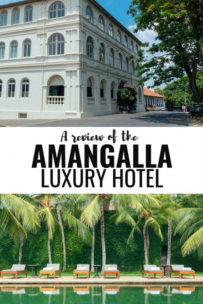 An unsponsored Amangalla review - by far the best hotel in Galle, Sri Lanka. The unique luxury property is situtated inside the UNESCO World Heritage site Galle Dutch fort and actually part of it!  #luxury #luxuryhotel #travel #travelguide #traveltips