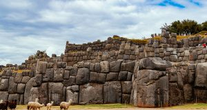 The Inca fortress of Sacsayhuaman in Cusco, Peru