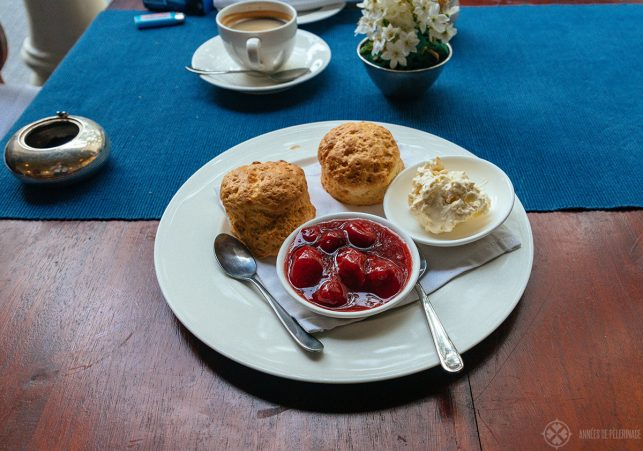 heavenly scones & clotted cream as part of the traditional afternoon tea at Amangalla, inside the Dutch fort in Galle, Sri Lanka