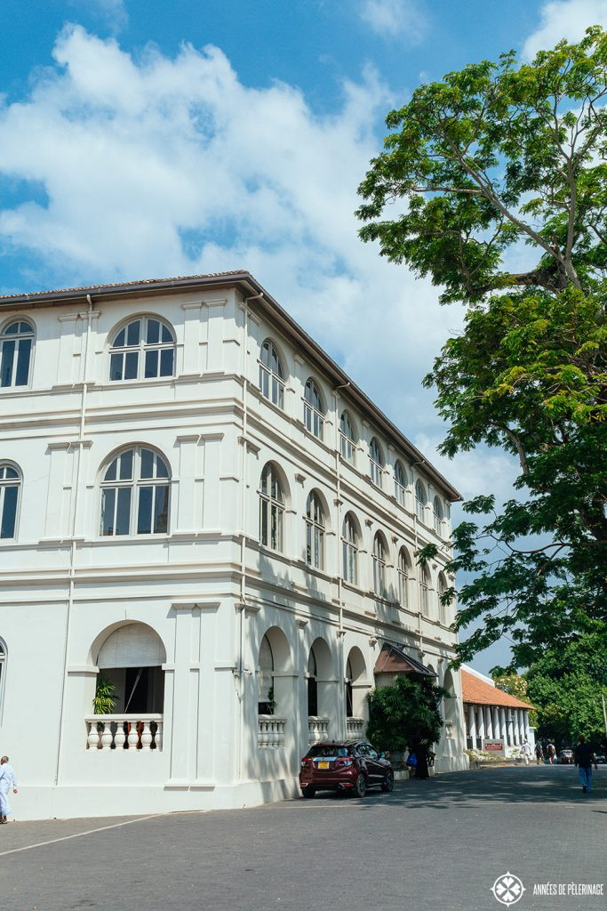 The historic main building of Amangalla - the best luxury hotel inside the Galle Dutch Fort in Sri Lanka