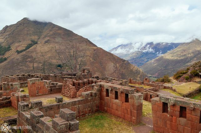 A closer look at the stunning masonry of the Inti Watana in Pisac, Peru